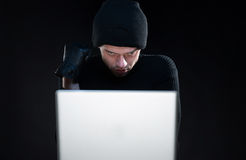 Computer hacking. Royalty Free Stock Image