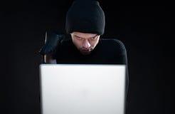 Computer hacking. Royalty Free Stock Image