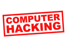 COMPUTER HACKING. Red Rubber Stamp over a white background Stock Photography
