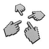 Computer hand cursors 3d. Rendered illustration Royalty Free Stock Photo