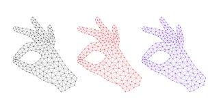 Computer-Hand mit Geste des O.K.s Lizenzfreies Stockbild