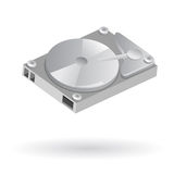 Computer hard disk. Isolated illustration of computer hard disk drive Stock Photos