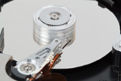Computer hard disk closed up Royalty Free Stock Photo