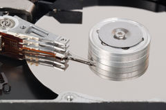 Computer hard disk closed up Royalty Free Stock Images