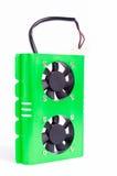 Computer Hard Disk cooler (neon green) Stock Photos