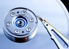Computer hard Disk Drive. Open hard disk drive - shallow depth of field with focus on the needle Royalty Free Stock Image