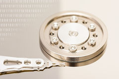 Computer Hard Disk Drive And Binary Numbers Stock Images