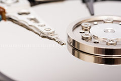 Computer Hard Disk Drive And Binary Numbers Royalty Free Stock Photos