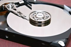 Computer hard disk-hard drive on an isolated background stock images