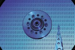 Computer Hard Disk Drive Platter Royalty Free Stock Images