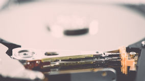 Computer hard disk drive - retro vintage effect Royalty Free Stock Photos