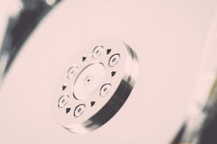 Computer hard disk drive - retro vintage effect Stock Photo
