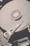 Computer hard disk drive - retro vintage effect Stock Photography