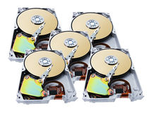 Computer Hard Disks Stock Photo
