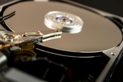 Inside computer hard disk drive Stock Photos