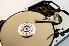 Inside computer hard disk drive Stock Images