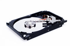 Computer Hard Drive. Opened Computer Hard Drive with Exposed Discs Royalty Free Stock Photos