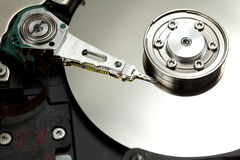Computer hard drive parts Stock Images