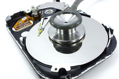 Computer hard drive and a stethoscope Stock Image