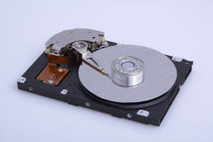 Computer hard drive uncovered Stock Photography