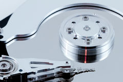 Computer harddisk. Drive. Close up Royalty Free Stock Image