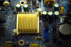Computer hardware. A detail of computer hardware Royalty Free Stock Images