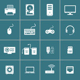 Computer hardware and accessory icon set, vector eps10 Stock Photography