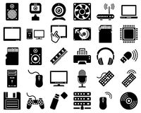 Computer hardware icon set Stock Images