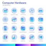 Computer Hardware Icon Set. Modern gradient style. Vector EPS 10 vector illustration