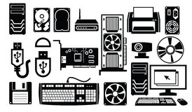 Computer hardware icon royalty free illustration