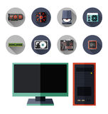 Computer hardware icon Stock Photo