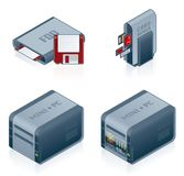 Computer Hardware Icons Set - Design Elements 55c Royalty Free Stock Photo