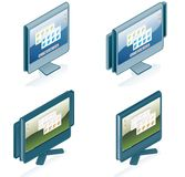 Computer Hardware Icons Set - Design Elements 55g Royalty Free Stock Images