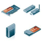 Computer Hardware Icons Set - Design Elements 55k Royalty Free Stock Photography