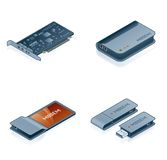 Computer Hardware Icons Set - Design Elements 55m Stock Photos
