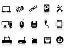Computer Hardware Icons set royalty free illustration
