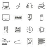 Computer Hardware Icons Thin Line Vector Illustration Set. This image is a vector illustration and can be scaled to any size without loss of resolution vector illustration
