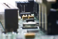 Computer hardware - motherboard Royalty Free Stock Photo