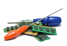 Computer hardware parts for repairing and upgrade Royalty Free Stock Photography