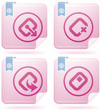 Computer Hardware Stuff. Computer peripherals and all kind software file types icons set (part of Flamingo Square 2D Icons Set Royalty Free Stock Photography