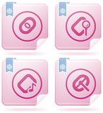 Computer Hardware Stuff. Computer peripherals and all kind software file types icons set (part of Flamingo Square 2D Icons Set Stock Photography
