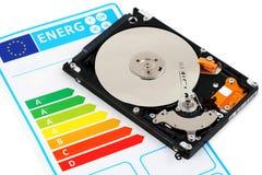 Computer HDD en energierendement Stock Fotografie