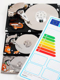 Computer HDD and energy efficiency Stock Photography