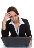 Computer  headache Stock Photography