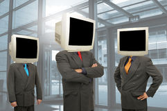Computer heads Stock Photography