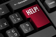 Computer Help key Royalty Free Stock Image