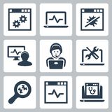 Computer help-line vector icons Stock Images
