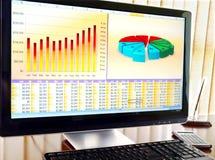 Computer in het bureau. Stock Foto's