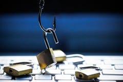 Computer het phishing stock afbeelding