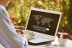 Computer het verbinden stock fotografie